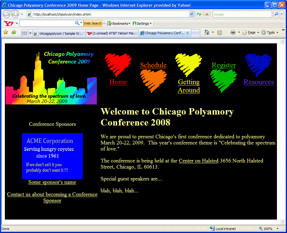 chicagopolycon / Sample Website home page